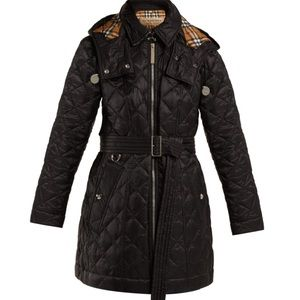 Burberry baughton diamond quilted hooded jacket